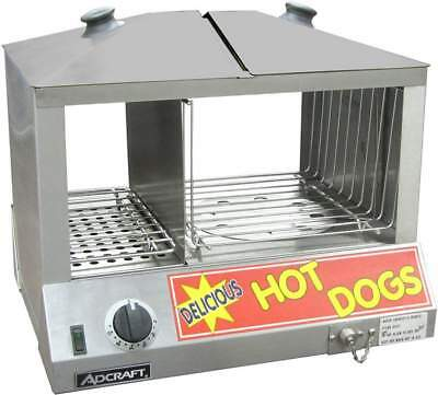 New Hot Dog Steamer Electric Table Top 120v Bun Storage 6324 Commercial Cooker