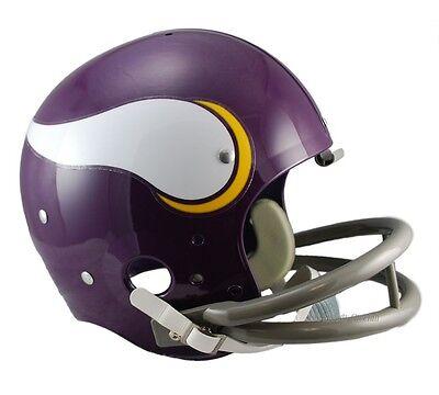 Viking Helmet Football (MINNESOTA VIKINGS 61-79 TK THROWBACK FULL SIZE FOOTBALL)