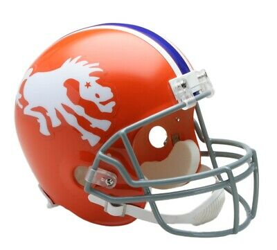 Broncos Throwback Riddell 1962-65 Helmet Football  (Broncos Helm)