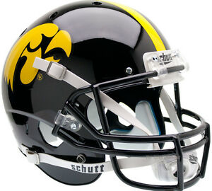 IOWA HAWKEYES XP FOOTBALL HELMET FULL SIZE SCHUTT