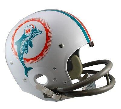 MIAMI DOLPHINS 1972 TK THROWBACK FULL SIZE FOOTBALL HELMET 1972 Miami Dolphins Football