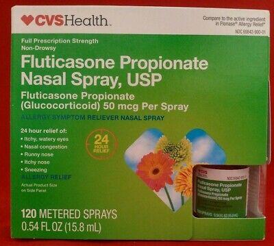 CVS Health Fluticasone Nasal Spray 50mcg, 120 Sprays EXP 10.19 &