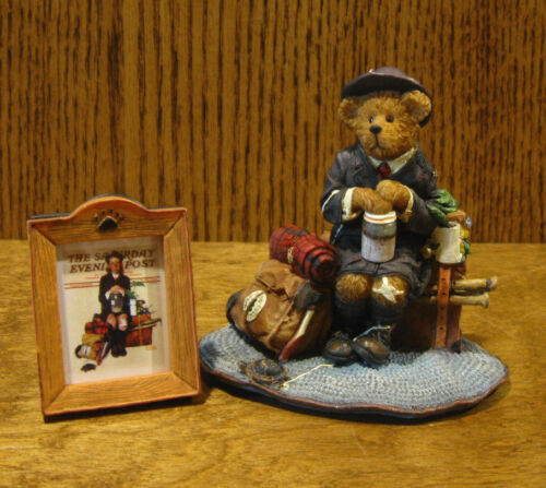 """Boyds Rockwell Bearstone #4020937 HOME FROM CAMP, New/Box From Retail Store 4"""""""