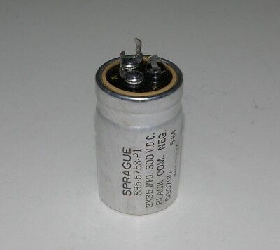 Sprague 2x35 Mfd 300 Vdc Electrolytic Can Capacitor S35-5758-p1