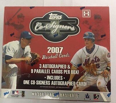 2007 Topps Co Signers Hobby (2007 Topps Co Signers Factory Sealed Baseball Hobby Box )