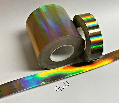 Gold Rainbow Vinyl Tape 1 Inch X 25 Feet Oil Slick Holographic Overall Shimmer