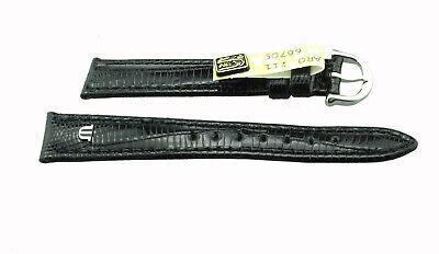Maurice Lacroix Uhrenarmband Eidechse Lederband 15 mm schwarz