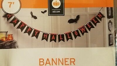 Happy Halloween Garland (Happy Halloween Banner 7' Party Hanging Garland Embroidered Party Home)