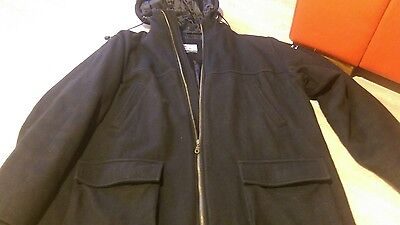 Well Worn O'Neill Mens Womens Black Coat Large