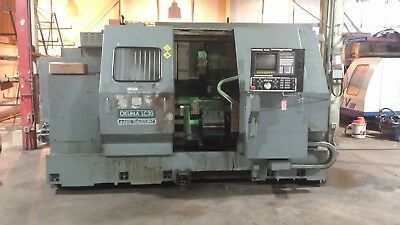 Okuma Lc30 Cnc Lathe Lathe With Tailstock - Under Power. See Video