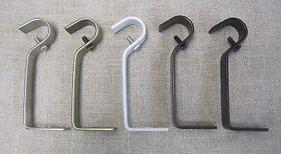 Urbanest Metal Curtain Drapery Rod Bracket,Non-Adjustable,Fits 5/8