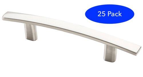 *25 Pack* Satin Nickel Subtle Arch Cabinet Hardware Handle Pull - Modern Design