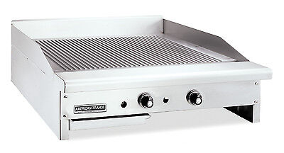 American Range Artg-60 Counter Unit 60 Inch Thermostatic Gas Griddle With Stee
