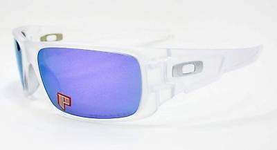Oakley Crankshaft POLARIZED Sunglasses OO9239-09 Matte Clear W/ Violet Iridium