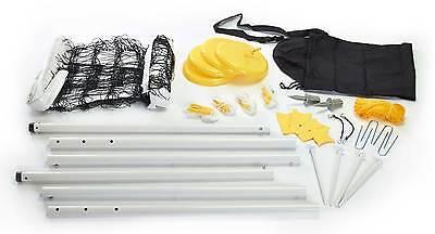 Beach Volleyball Set deluxe (Netz und Ständer). Allwetter Netzt, Spielfeldlinien
