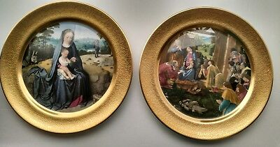2 Pickard Christmas Plates 1978 and 1979, Adoration of the Magi, Flight to Egypt