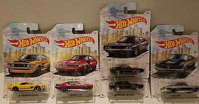 Hot Wheels 2019 Walmart Exclusive D Case - Detroit Muscle Cars LOT X5~ SHIP FREE