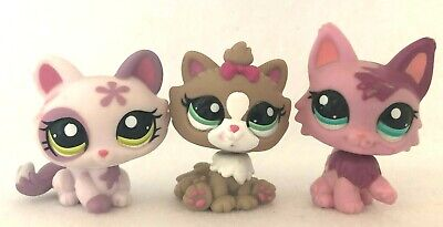 Littlest Pet Shop CATS Crouching 1628 Persian 2465 Himalayan 2640 BLEMISHED Lot