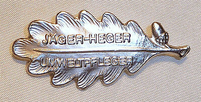 Abzeichen Jäger-heger Umweltpfleger - Silber - Jagd