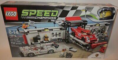 Lego Speed Champions Porsche 919 Hybrid and 917k Pit Lane (75876) race cars NEW