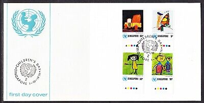 Singapore 1974 Children's Day First Day Cover Unaddressed with Tabs
