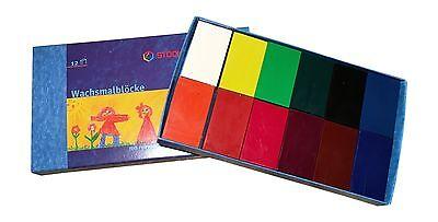 Stockmar Wachsmalblöcke Grundsortiment 12 Farben