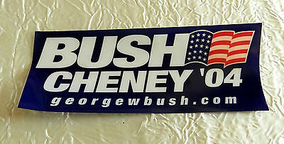 GEORGE W. BUSH & DICK CHENEY ORIGINAL 2004  CAMPAIGN WINDOW CLING
