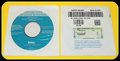 Microsoft Windows XP Professional Pro SP3 Full Version DVD & Product Key w/ COA