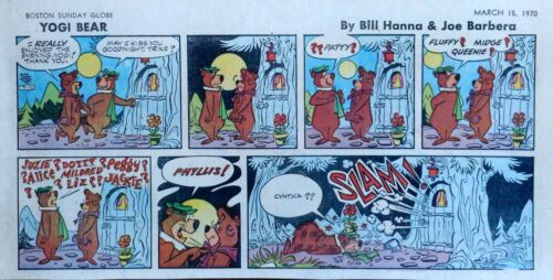 Yogi Bear by Eisenberg - Hanna-Barbera - color Sunday comic page, March 15, 1970