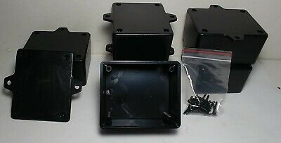 6 Pcs Usa Black Plastic Electronic Project Box Enclosure Case 3 X 2.5 X 1.6 In