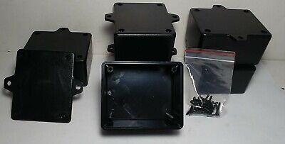 6 Pcs Usa Black Plastic Electronic Project Box Enclosure Case 3 X 2.5 X 1.6 In