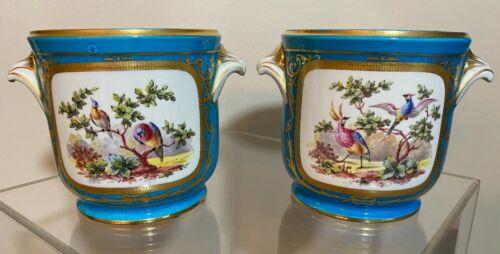 Estate Pair of Serves Porcelain Planters Jardinière Cachepot