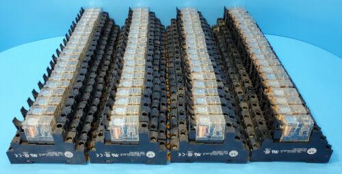 Lot of 80 (Allen Bradley HK36Z24 Relays) + 80 (700-HN121 Series A Relay Bases)