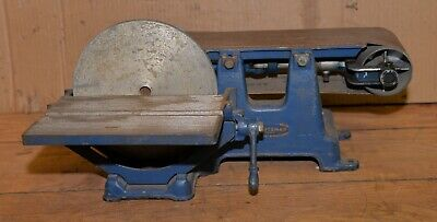 Rare Craftsman Cast Iron Combination Sander 8 Disc 16 Belt Knife Maker Tool