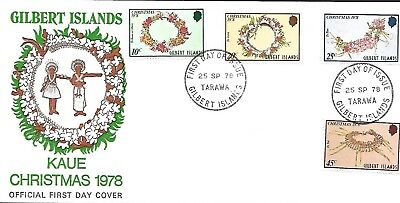 GILBERT ISLANDS 1977 FIRST DAY COVER, RESOLUTION AND DISCOVERY OFF CHRISTMAS ISL