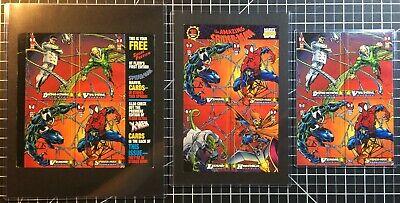 1994 Marvel Fleer Amazing Spider-Man Cards - Complete 4-Card Uncut Promo Set