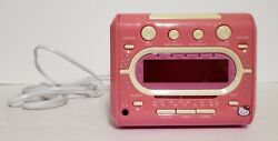 Hello KItty  KT2053A AM/FM Stereo CD Dual Alarm Clock Radio ** Partially Work **