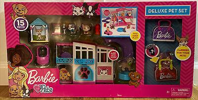 Barbie Deluxe Pet 15 Piece Set. Barbie Pets Pink Dream House! NEW. NIB.