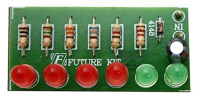 Audio Vu Meter 6 Led No Need Power Supply Unassembled Kit