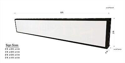 24 X 48 Led Box Sign With Rgb Perimeter Lights