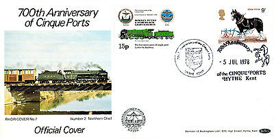 5 JULY 1978 SHIRE HORSES BENHAM RHDR CARRIED FIRST DAY COVER HYTHE SHS
