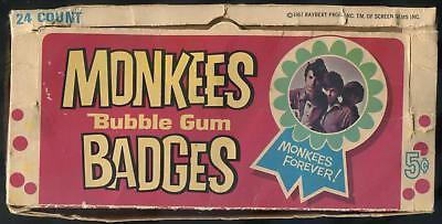 1967 Donruss Monkees Badges 5-Cent Display Box