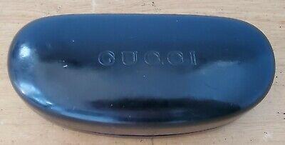 Gucci Black Hard Clam Shell Sunglasses Eyeglasses Case & Cleaning Rag Vintage