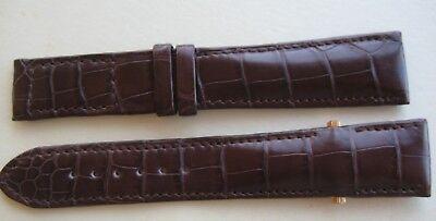 Original Andersen Geneve Alligator Leder Uhr Armband 22 mm Braun Neu
