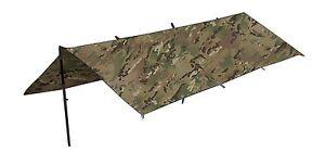 WATERPROOF-BRITISH-ARMY-CAMO-BASHA-SHELTER-TENT-BIVI-TARPAULIN-TARP-MTP-MULTICAM