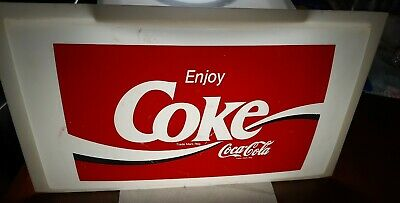 Vintage Coca Cola Light Up Bubble Sign Face Only