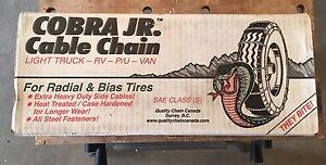 Cobra Jr Cable Tire Chains - Brand New In Box!  Edmonton Edmonton Area image 1