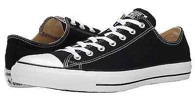 Converse Chuck Taylor Bas Tops Noir Ox Femmes Baskets Chaussures de Tennis M9166 ()