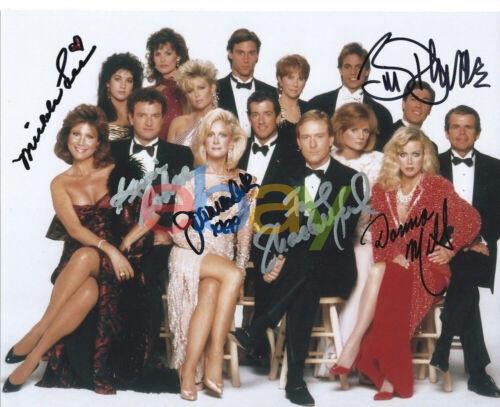 KNOTS LANDING Cast signed 8x10 Autographed Photo reprint