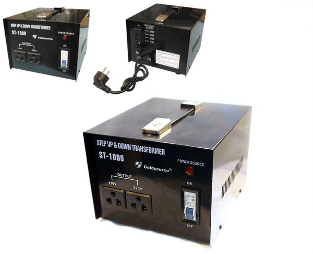 voltage converter transformer step  step       ebay
